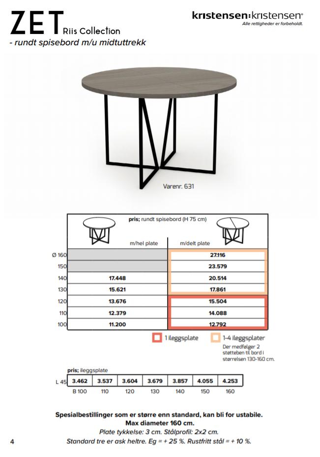 Zet Rundt Spisebord | Interiørfaghuset T. Lund | tlund.no